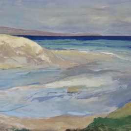Estuary by Robyn Schoon, Oil on Canvas, 100cm by 100cm.