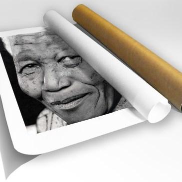 The Studio Art Gallery - Nelson Rolihlahla Mandela by Criag Ivor - Canvas Print in Tube