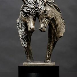 The Studio Art Gallery - Richard Gunston Sculptures - Horse Pair by Richard Gunston