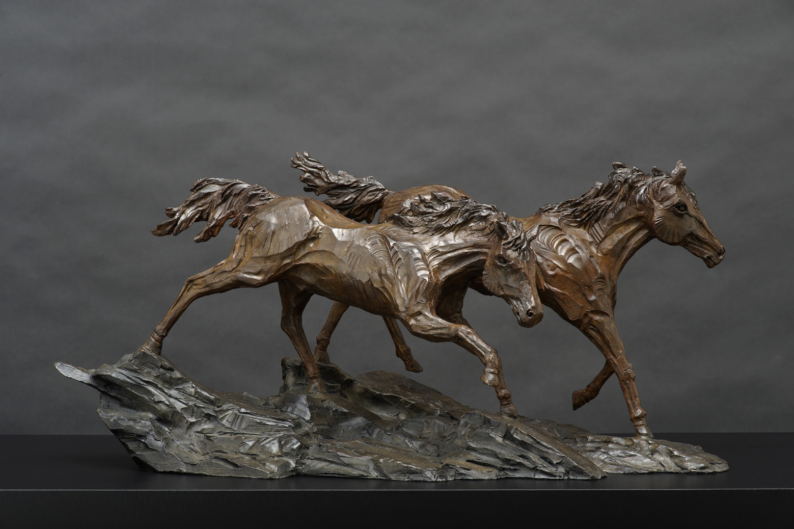 The Studio Art Gallery - Richard Gunston Sculptures - Namib Horses