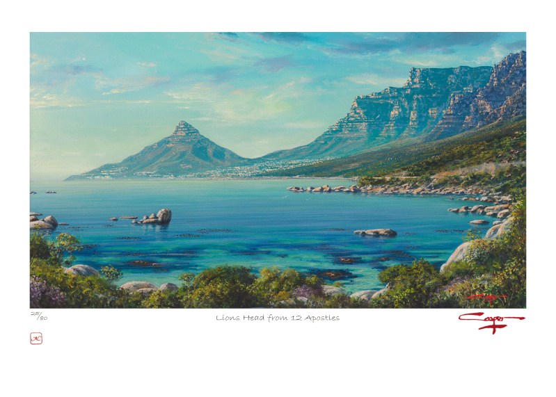 The Studio Art Gallery - Andrew Cooper - Lions Head from 12 Apostles Limited Edition Print