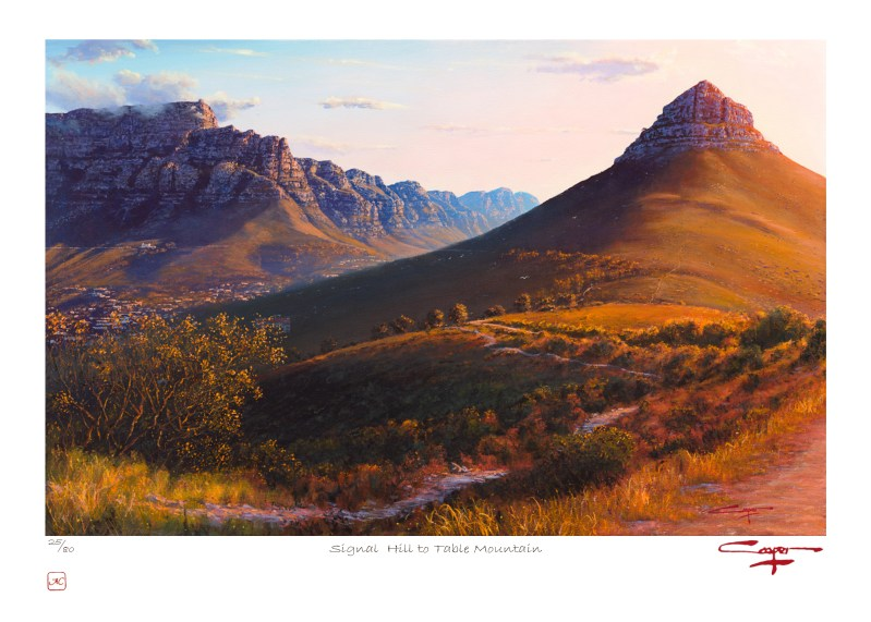 Andrew Cooper   The Studio Art Gallery - Signal Hill to Table Mountain Limited Edition Print