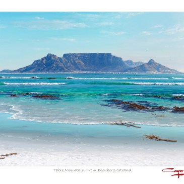 The Studio Art Gallery - Andrew Cooper - Table Mountain From Blouberg Strand Limited Edition Artist Print