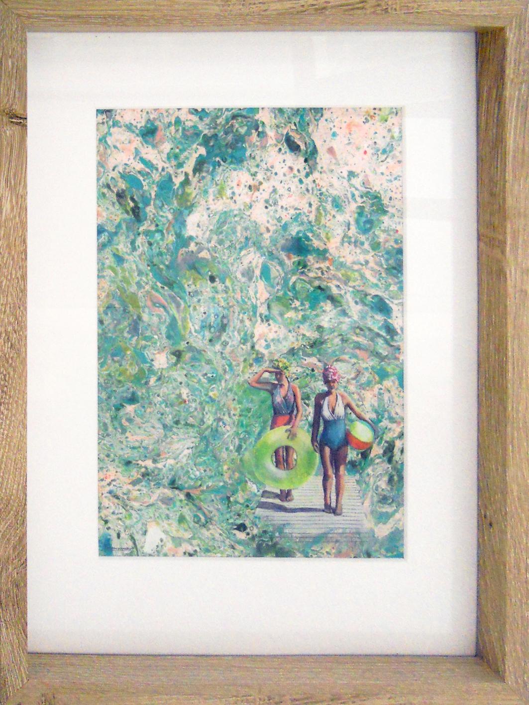 The Studio Art Gallery - Aquarius II by Karen Wykerd