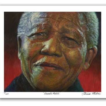 The Studio Art Gallery - Amandla Madiba by Therese Mullins - Artist Print on Paper