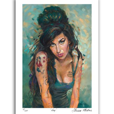 The Studio Art Gallery - Amy Winehouse by Therese Mullins - Artist Print on Paper