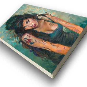 The Studio Art Gallery - Amy Winehouse by Therese Mullins - Stretched Canvas