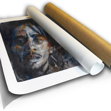 The Studio Art Gallery - Bob Marley by Therese Mullins - Canvas Print in Tube