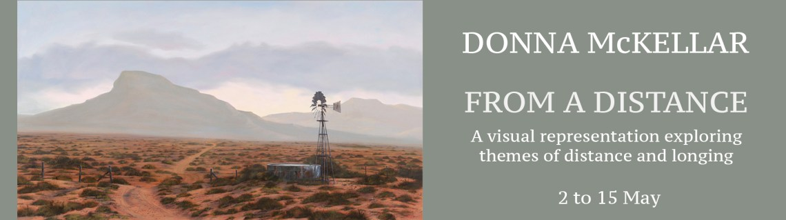 The Studio Art Gallery - Exhibition Header - From a Distance - Solo Exhibition by Donna McKellar
