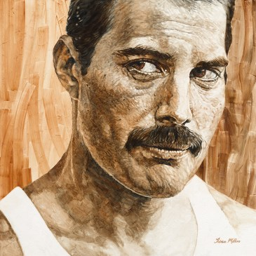 The Studio Art Gallery - Freddie Mercury by Therese Mullins