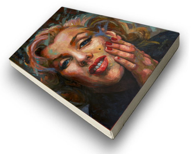 The Studio Art Gallery - Marilyn Monroe by Therese Mullins - Stretched Canvas