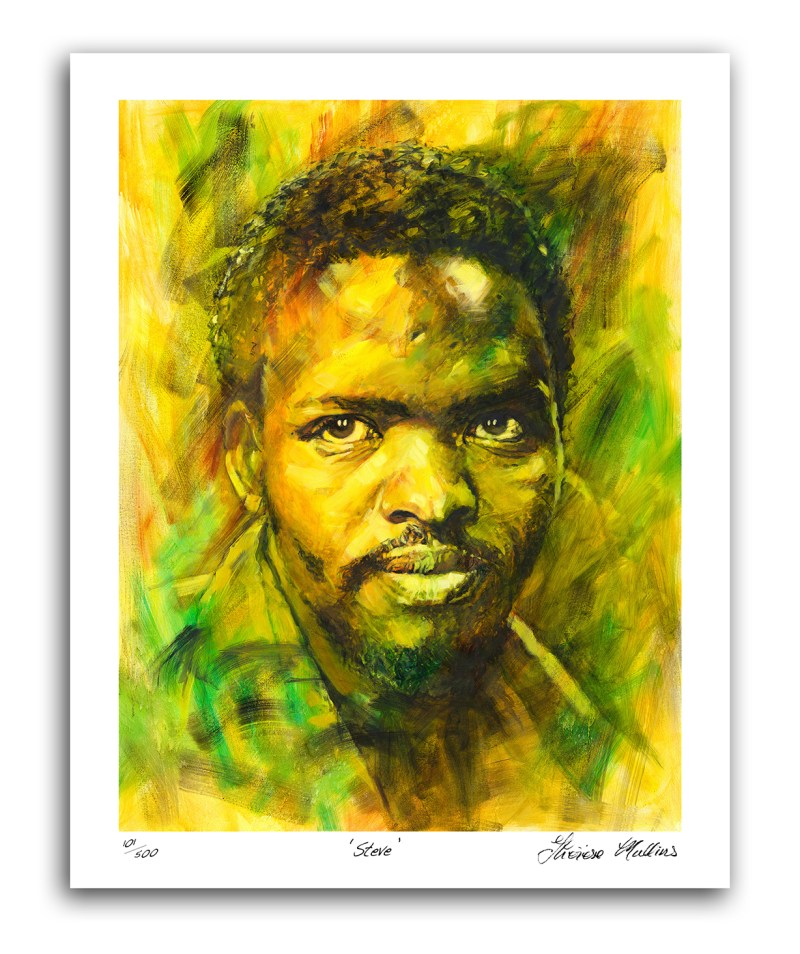 The Studio Art Gallery - Steve Biko by Therese Mullins - Artist Print on Canvas