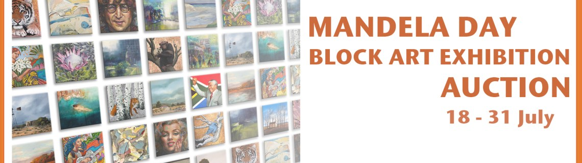 The Studio Art Gallery - Exhibition Header - Mandela Day Block Art Exhibition Auction