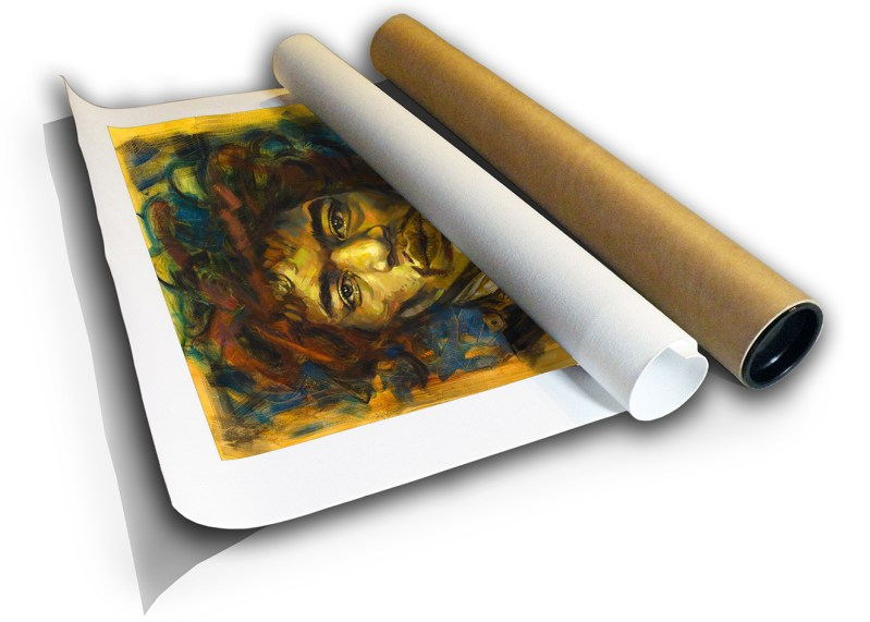 The Studio Art Gallery - Jimi Hendrix by Therese Mullins - Canvas Print in Tube