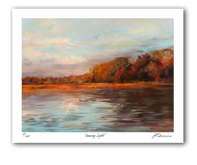 The Studio Art Gallery - Evening Light by Yola Quinn - Archival Print on Paper