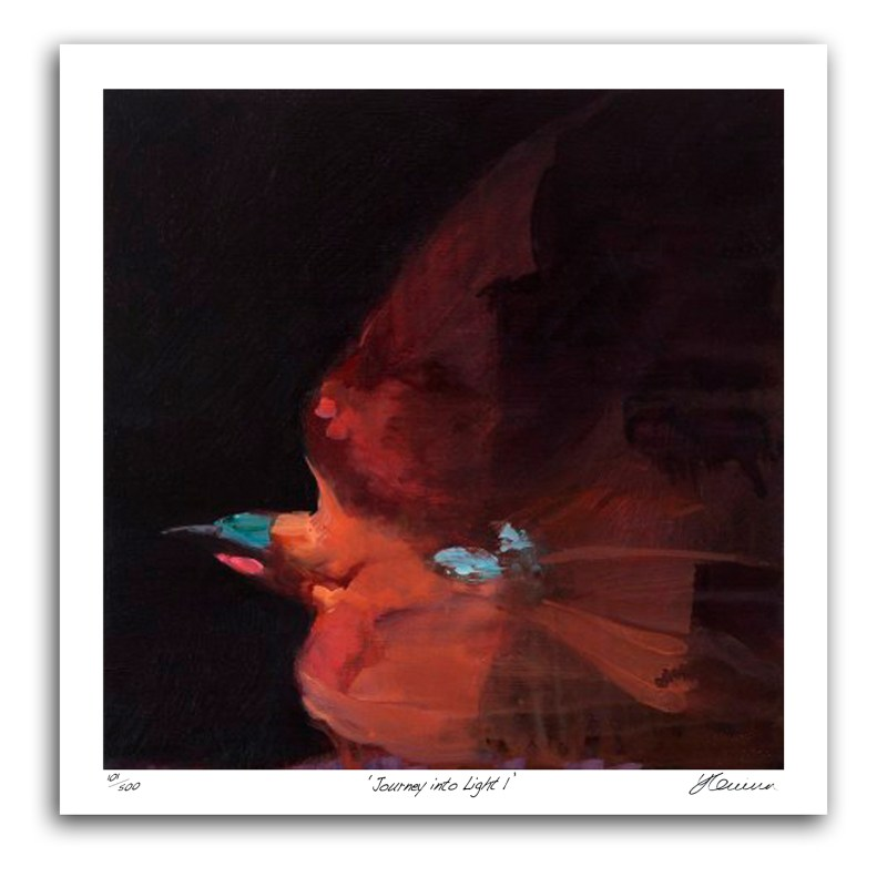 The Studio Art Gallery - Journey Into Light I by Yola Quinn - Archival print on Paper