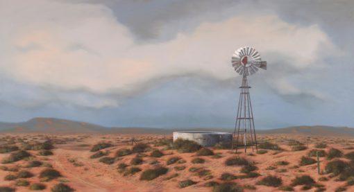 The Studio Art Gallery - Karoo Reservoir #849 by Donna McKellar