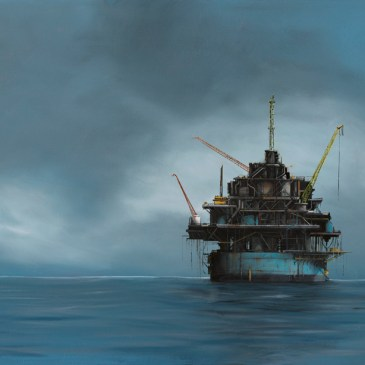 The Studio Art Gallery - Oil Rig 854 by Donna McKellar