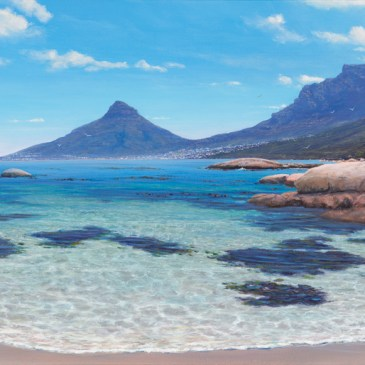 Andrew Cooper | The Studio Art Gallery - Oudekraal Cove, 140cm by 60cm, Acrylic on Canvas