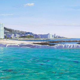 Andrew Cooper | The Studio Art Gallery - Seapoint Tidal Pool, Acrylic on Canvas, 180cm by 65cm