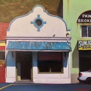 Donna McKellar   The Studio Art Gallery   Unpetrified - Charming in Blue, Woodstock 893