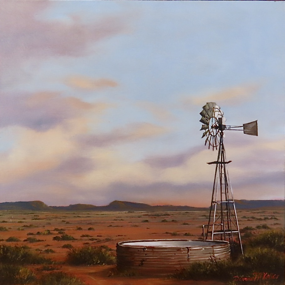 Donna McKellar | The Studio Art Gallery | Unpetrified - Windmill at Dusk 887