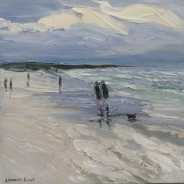 The Studio Art Gallery | 2021 Mandela Day Block Art Exhibition | Anita Fuchs - Couple Walking