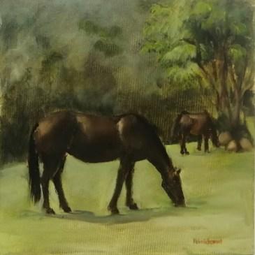 The Studio Art Gallery | 2021 Mandela Day Block Art Exhibition | Helen Estcourt - Eight Bells Horses