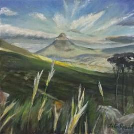 The Studio Art Gallery   2021 Mandela Day Block Art Exhibition   John Robert - Lions Head