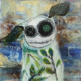 The Studio Art Gallery   2021 Mandela Day Block Art Exhibition   Kathryn Sutton - Stitchling Series - Fern