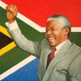 The Studio Art Gallery   2021 Mandela Day Block Art Exhibition   Marc Alexander - Nelson Mandela Hope for South Africa