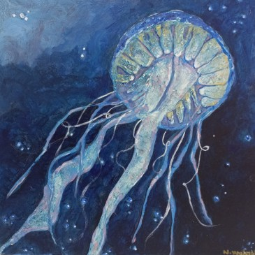 The Studio Art Gallery | 2021 Mandela Day Block Art Exhibition | Natalie Walmsly - Jelly in the Deep