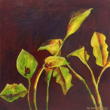 The Studio Art Gallery | 2021 Mandela Day Block Art Exhibition | Natalie Walmsly - Midnight Lilies