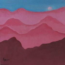 The Studio Art Gallery   2021 Mandela Day Block Art Exhibition   Rhoda Moore - Misty Mountains II