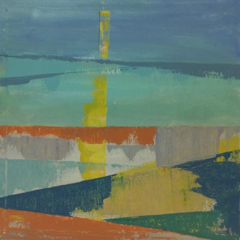 The Studio Art Gallery   2021 Mandela Day Block Art Exhibition   Robyn Schoon - Sunrise Abstract