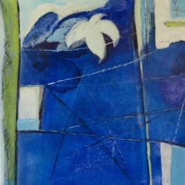 The Studio Art Gallery   2021 Mandela Day Block Art Exhibition   Robyn Schoon Blue Abstract 1