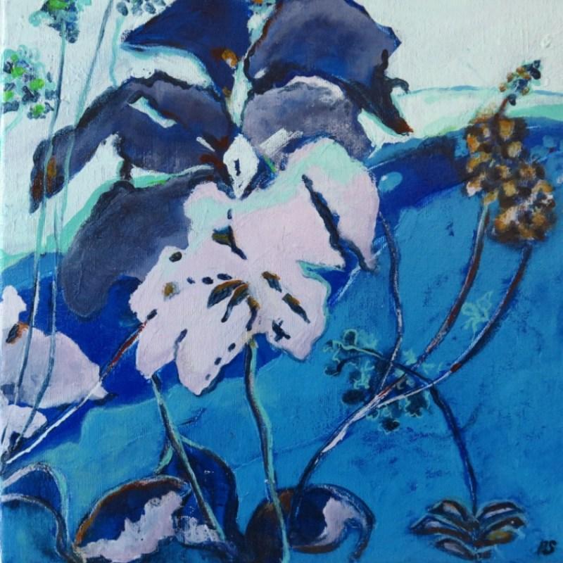 The Studio Art Gallery   2021 Mandela Day Block Art Exhibition   Robyn Schoon - Blue Abstract 2
