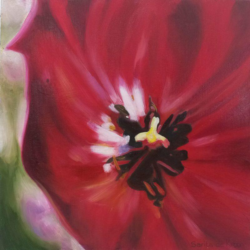 The Studio Art Gallery   2021 Mandela Day Block Art Exhibition   Sarita De Kroon - Tulip Heart