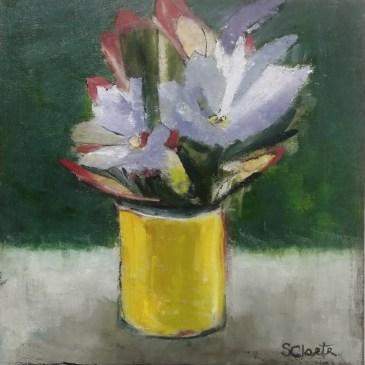 The Studio Art Gallery | 2021 Mandela Day Block Art Exhibition | Sue Cloete - Iris Lilies