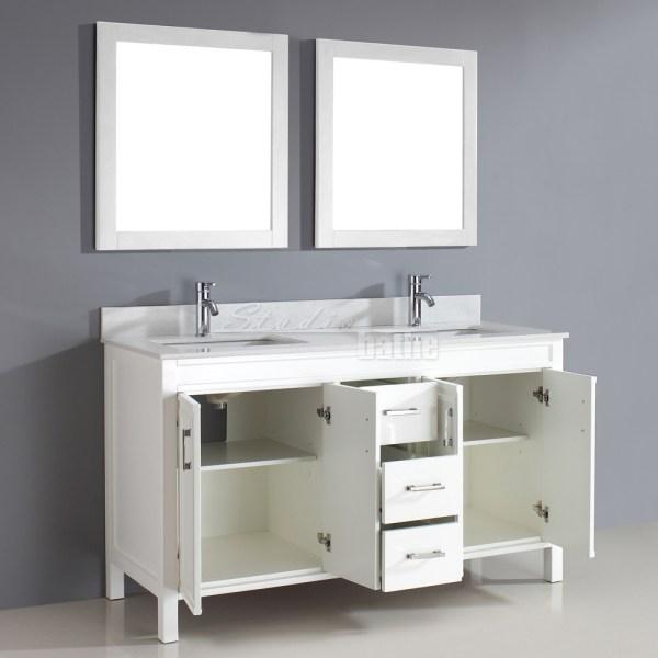 60 Inch Bathroom Vanity White