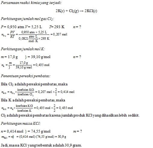 pembahasan soal stoikiometri