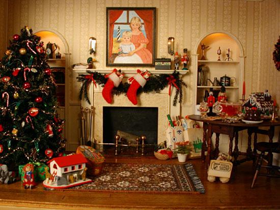 Studio B Miniatures Vignettes Christmas Room 1