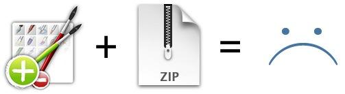 Brush Manager + ZIP = Sad