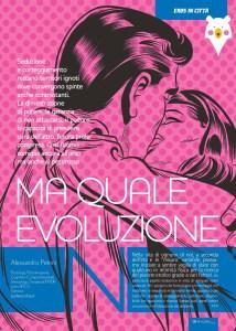 """Articolo di Sessuologia su Seduzione e Corteggiamento, scritto dal dott. Alessandro Petrini, uscito su rivista Pharmamagazine nel 2015 per la rubrica """"Eros in città"""""""