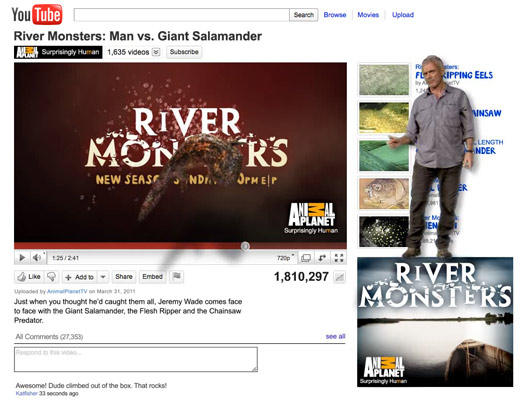 River Monsters YouTube promo