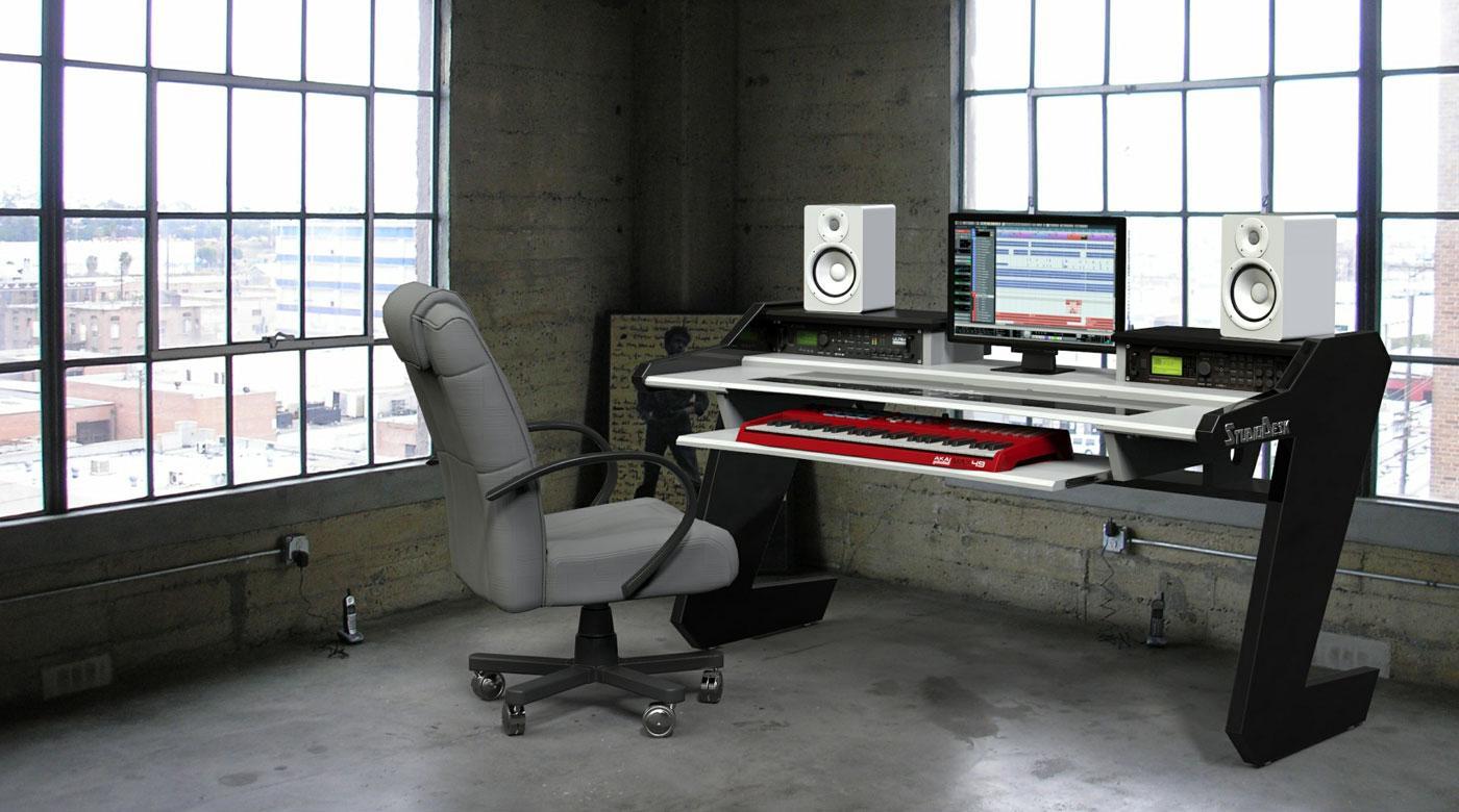 Beat Desk All Black  Studio Desk Workstation Furniture