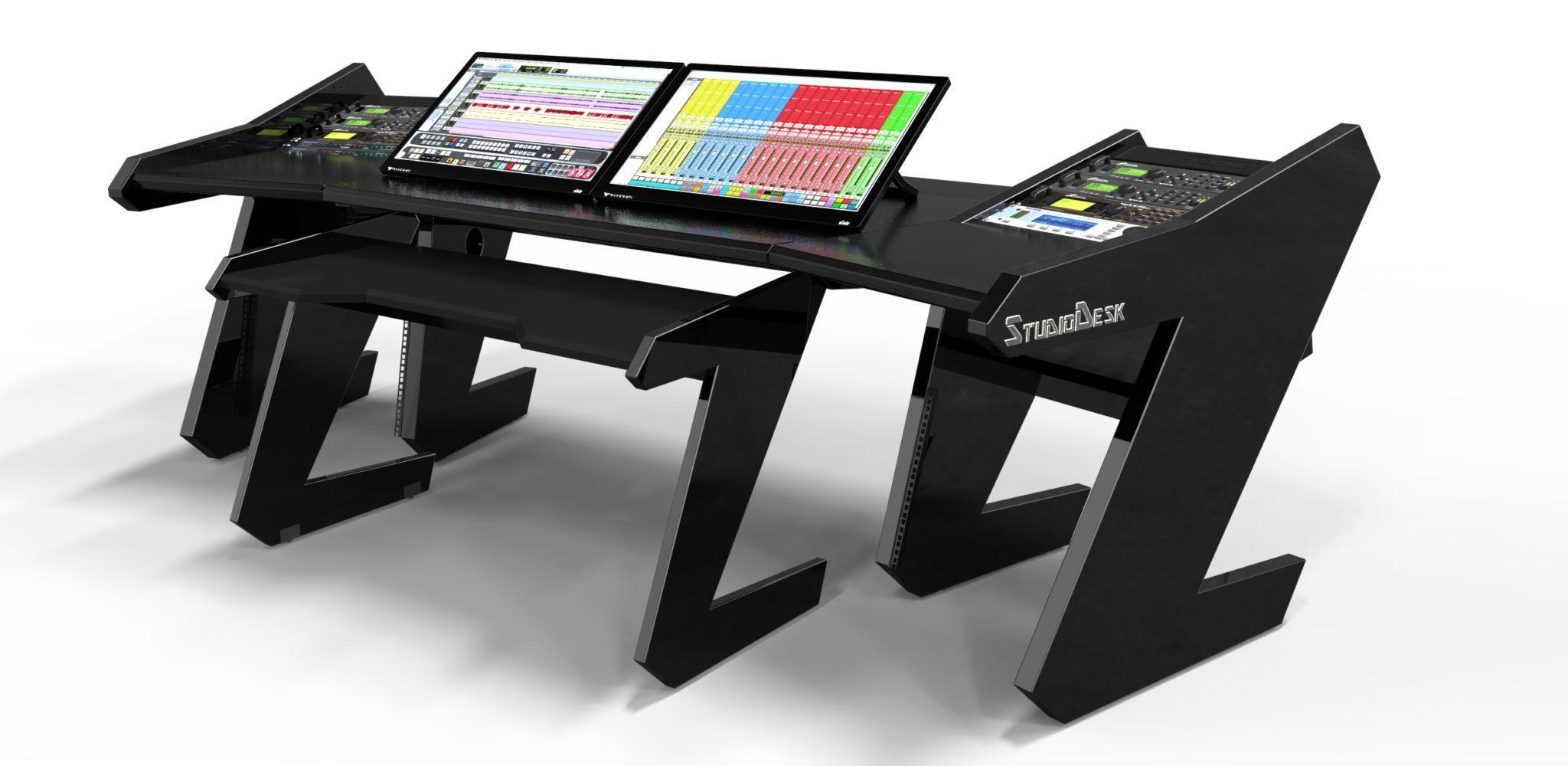 PRO Line SL All Black  Studio Desk Workstation Furniture