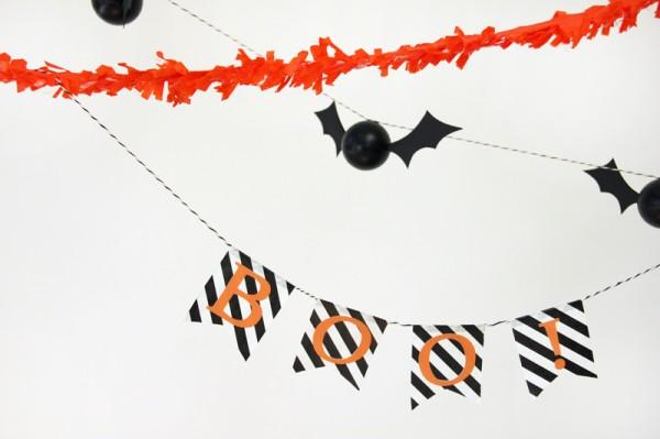 DIY Halloween Boo Banner