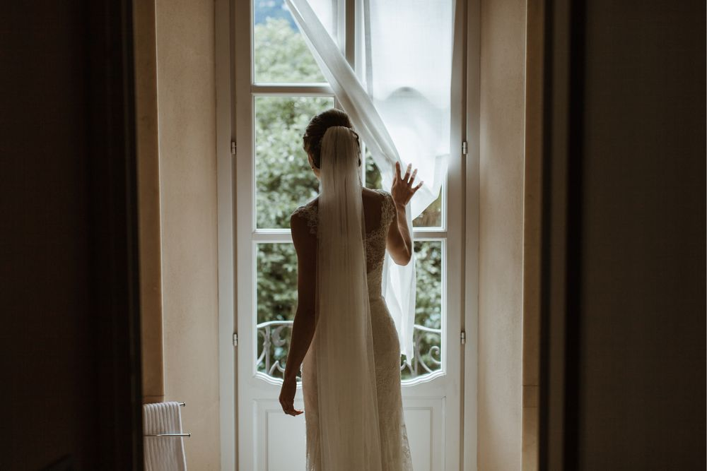 Last moments before the wedding ceremony at Orta San Giulio captured by © Italy wedding photographer