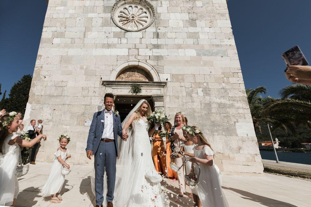 Wedding in Croatia, Vis Island, St. Jeromes church